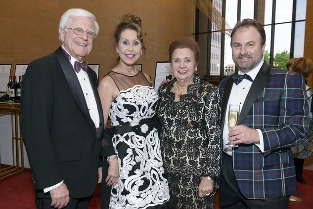 Symphony Wine Dinner, April 2016, Jim Shaffer, Jill Kirk, Helen Shaffer, Ray Kirk
