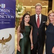Cynthia Petrello, from left, Bobby Dees and Kim Moody at the Women of Distinction announcement party October 2014