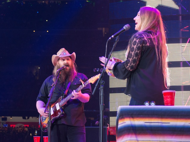 Chris Stapleton, Maureen Stapleton at Houston Livestock Show and Rodeo