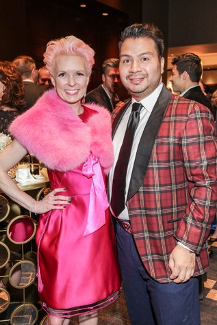26 Vivian Wise and Sergio Morales at the Social Book Treasures dinner December 2014