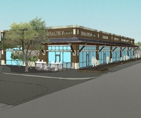 20th and Rutland street renderings for retail center replacing Heights Baptist Temple Church buildings October 2013