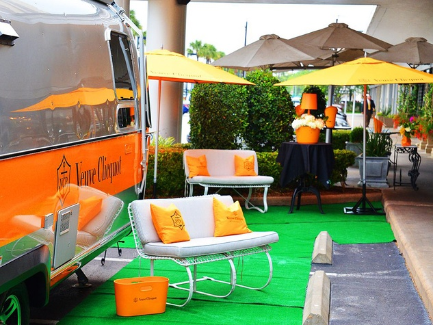 Veuve Clicquot Airstream champagne tents