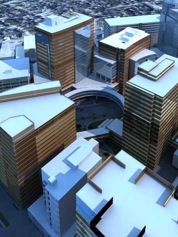 Texas Children's Hospital new tower proposed Artistic illustration_aerial January 2015
