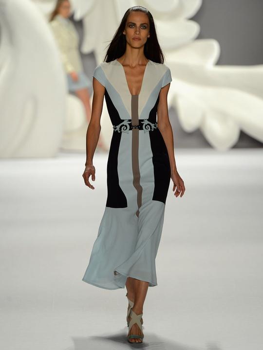 Clifford, Fashion Week spring 2013, Monday, Sept. 10, 2012, Carolina Herrera, color-block dress