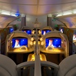 Emirates A380 in Houston December 2014 First Class Cabin