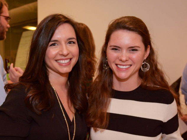 8 Daphne Laplante, left, and Sara Cain at Preservation Houston's Pier & Beam #ThrowbackThursday Party November 2014
