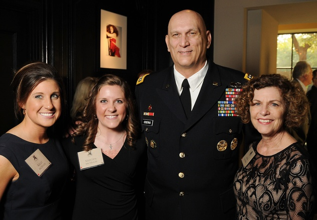 Kelly McHugh, from left, Kristen McHugh and Gen. Raymond T. Odierno and Linda Odierno at the Johnny Mac Soldiers Fund Inaugural Houston Gala April 2015