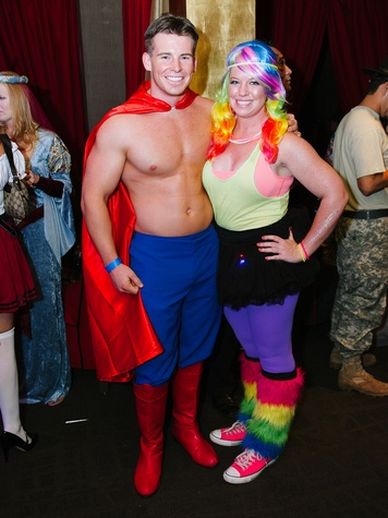3 Zach Derr and Krista Goodwin at the CultureMap Halloween party at Mr. Peeples October 2013