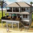 1 Seahorse Beach Club Galveston rendering back of house