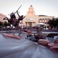 Sugar Land, Town Square, sculpture, fountain