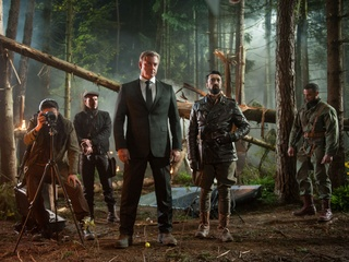 Ray Stevenson, Mehmet Kurtulus and cast from Big Game