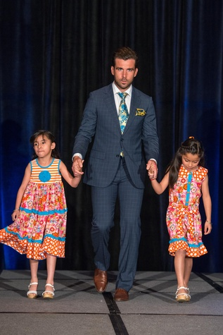 452 Arial, from left, Mike Chabala and Elena  at the Boys & Girls Harbor Fashion Show April 2015