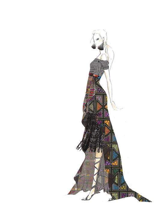 Nicole Miller designer inspiration sketch spring 2017