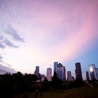 Houston Skyline just before sunrise