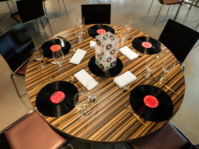 The Reverbery set table