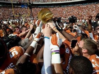 Golden Hat Texas OU game