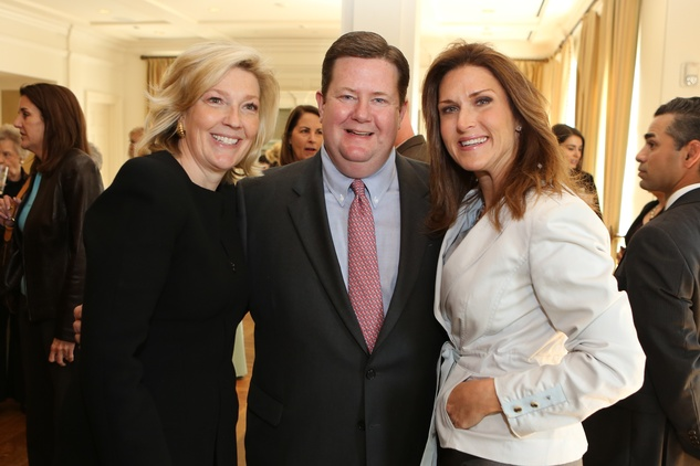 12 Kathryn and Jeff Smith, left, with Frances Moore Jones at the The Center Luncheon February 2015