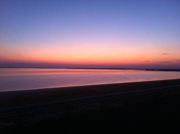 Sunset over Lake Somerville