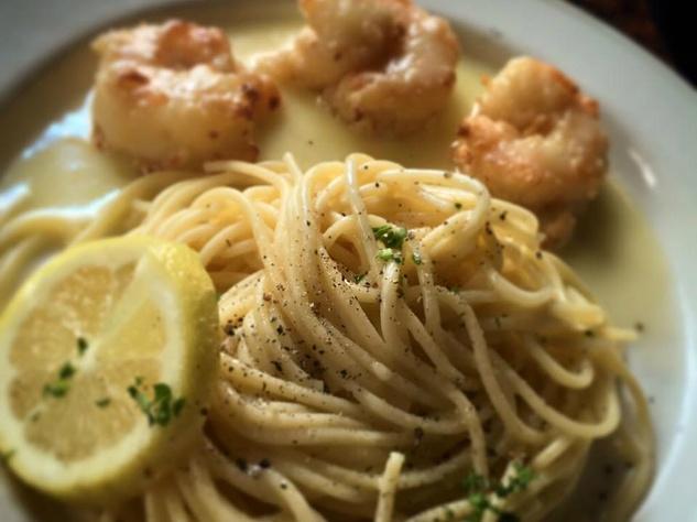 Paesanos shrimp paesano pasta