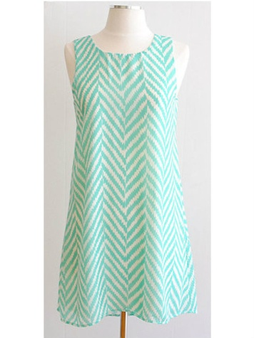 the impeccable pig classic chevron dress