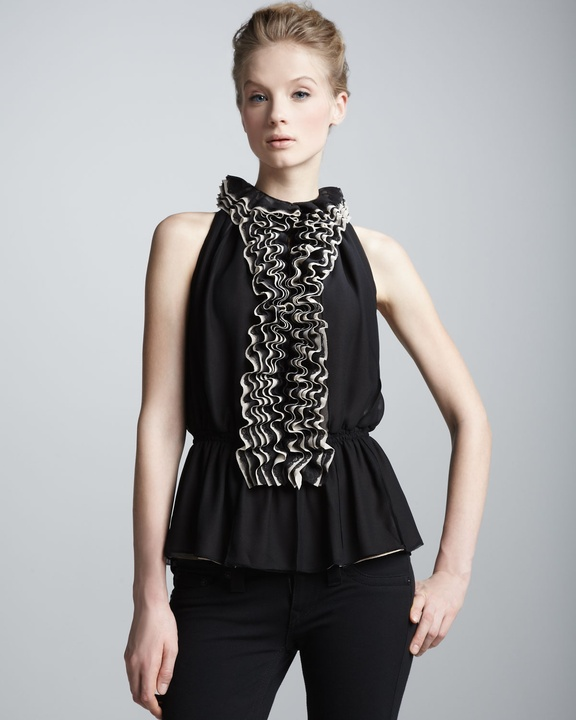 Robert Rodriguez ruffled lace top from Neiman Marcus + Target Collection