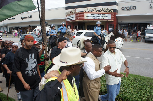 Quanell X Trayvon Martin River Oaks Protest stand your ground George Zimmerman