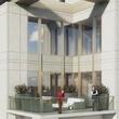 Belfiore luxury condominium Gallery area rendering penthouse apartments