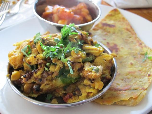 Ruthie, 10 new breakfasts, March 2013, Pondicheri, Masala Eggs