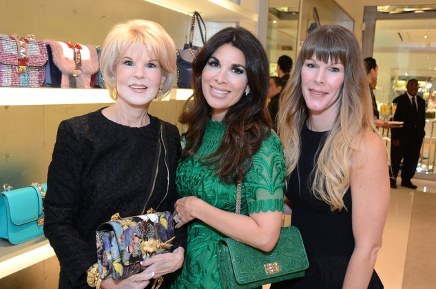 Alissa Maples, from left, Virginia Steppe and Sonya Shernak at the Una Notte in Italia lunch at Valentino September 2014