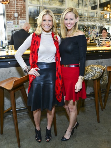 1 Allie Fields, left, and Melissa Strong at the Petra Nemcova luncheon December 2013