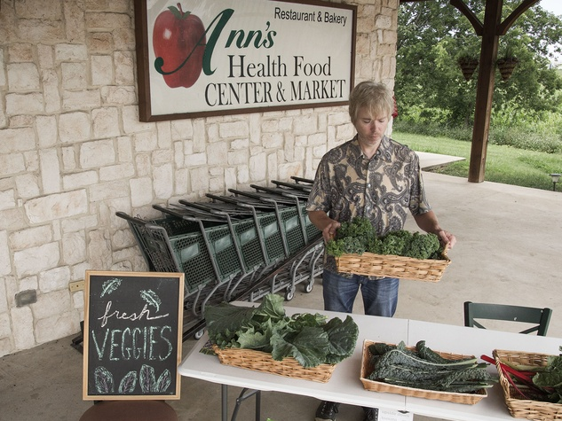 Fresh produce stand at local health food store