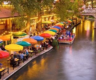 San Antonio River Walk at dusk