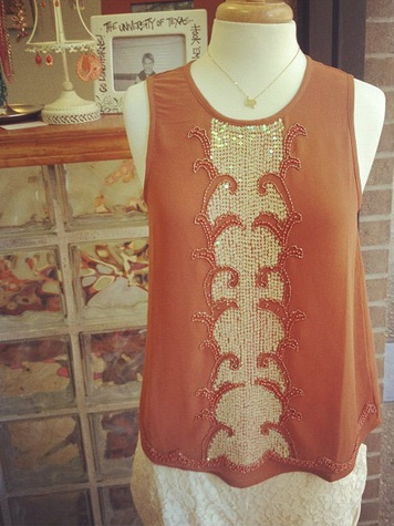 Longhorn Fashions Gatsby top