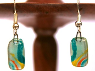 Fair trade earrings at Fair & Square Imports in McKinney