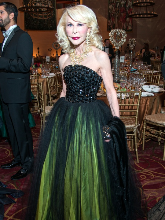 Houston, Ballet Ball gowns, Feb 2017, Diane Lokey Farb in couture Armani Prive