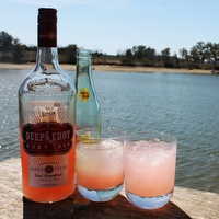 Deep Eddy Vodka Ruby Red lake Topo Chico