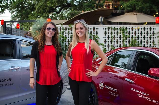 Cadillac girls Hannah Lovett and Kristen Beck