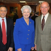 News, Shelby, Blue Bird Circle endowed chair, October 2014, Dr. Gary Clark, Pat Edwards, Dr. Mark Kline