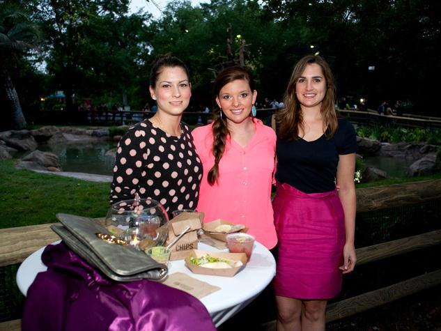 18 Houston Zoo Flock Pink Flamingo Party May 2013 Ashley Mills, Cara Merriman and Lauren Rankin