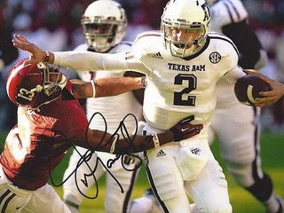 Johnny Manziel autographed picture