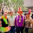 224 Carol Vassell, from left, Joshua Vassell, Dominic Vassell and Elaine Barker at the Art Car Ball April 2015