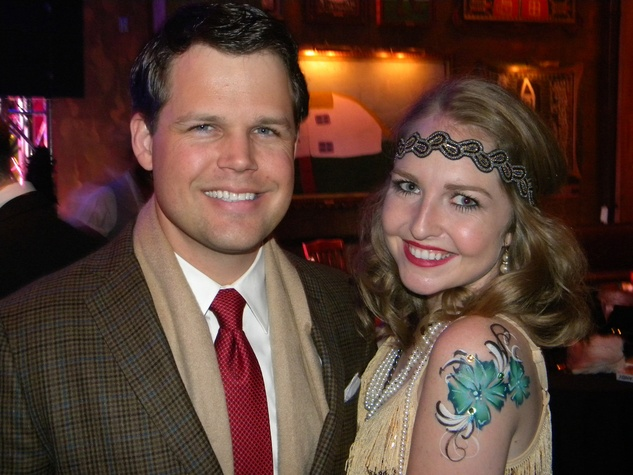 Alexander Weaver and Ali Gray at the TIRR party January 2015