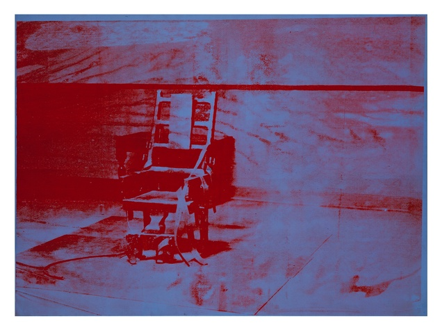 The Menil, Silence, July 2012, Warhol, Big Electric Chair