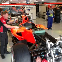 Austin Photo: Kevin_Marussia garage Formula 1_November 2012_glock car