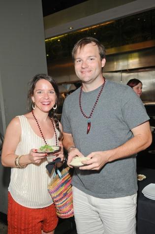 Sara Litton and John Almy at the Curry Crawl May 2014