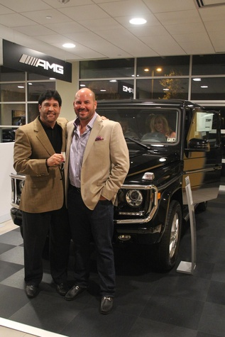 17 Mike Jenkin, left, and Billy Jenkin at the Mercedes-Benz of Sugar Land Cystic Fibrosis Event October 2014