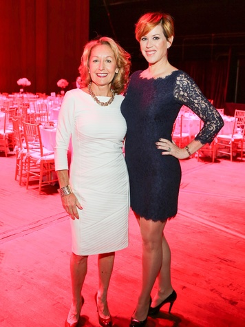 June Christensen, left, and Molly Ringwald at the SPA luncheon October 2013