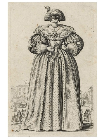 MFAH, Jacques Callot, February 2013, The Masked Lady