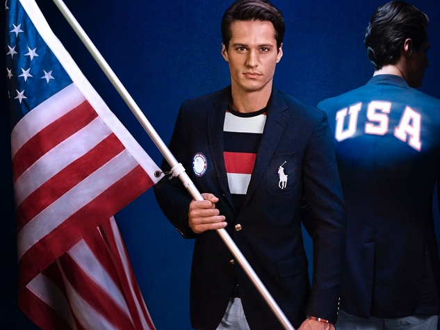 Ralph Lauren USA Olympic flag bearer jacket