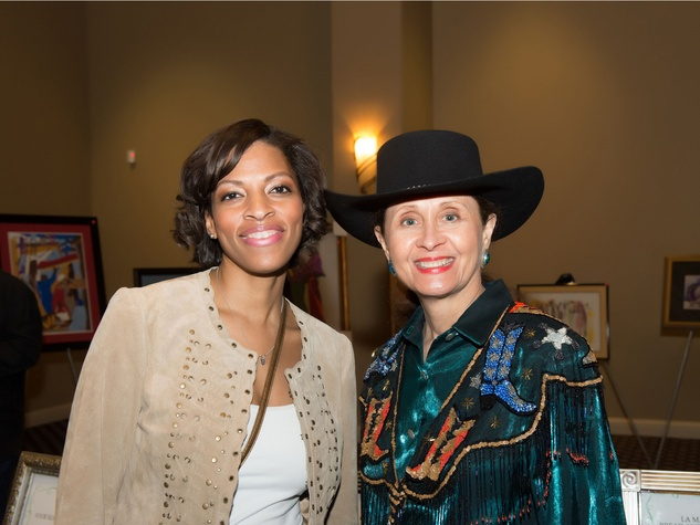 Cassye Cook, left, and Barbara Seymour at Links Boots & Bling February 2014